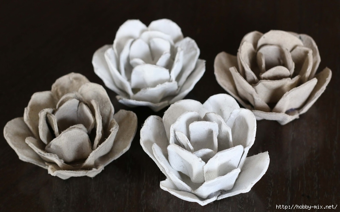 egg carton roses - painted (700x437, 179Kb)
