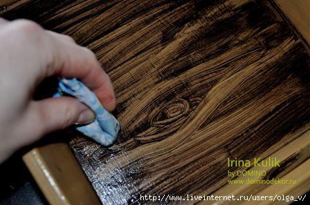 Имитация фактуры дерева своими руками