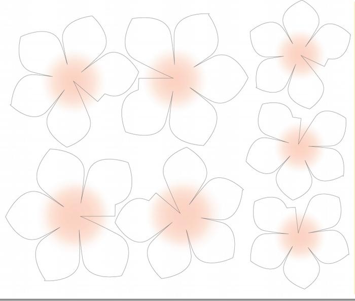 цветы абрикоса из бумаги (3) (700x592, 163Kb)