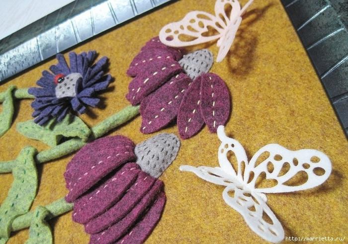 Цветочное панно из художественного войлока. Мастер-класс (2) (700x490, 315Kb)