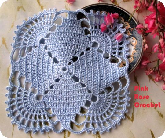 Quadradinho Centrinho Azul Crochet Square (540x450, 623Kb)