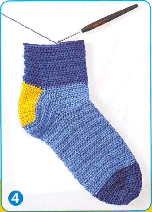Вязание носков крючком от