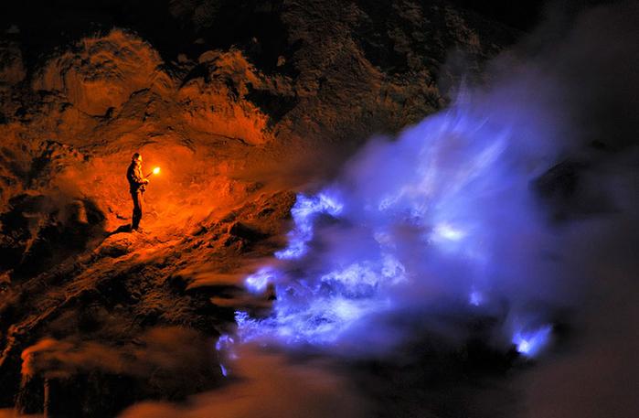 вулкан Кавах Иджен индонезия фото 3 (700x457, 341Kb)