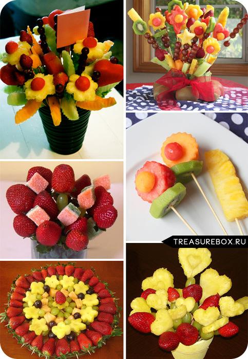Букеты из фруктов как сделать