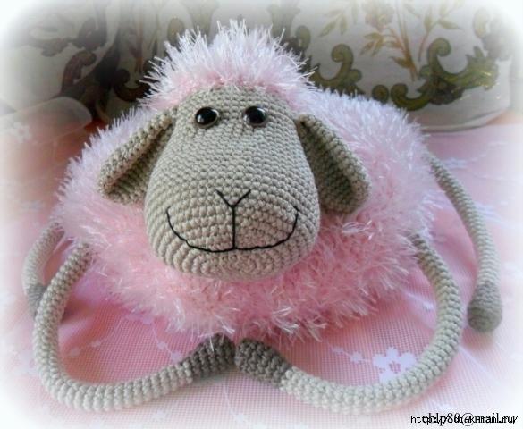 вязаная подушка овечка, вязаная подушка, как связать подушку, вязаная овца овечка, схема вязания подушки овечки,,