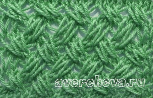 снуд плетенкой с вытянутыми петлями