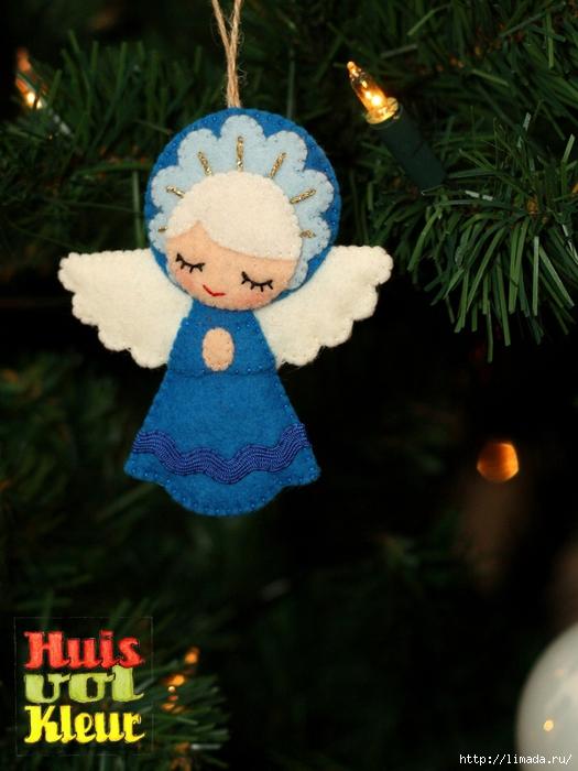 kerst engel kerstboom blauw huisvolkleur (525x700, 255Kb)