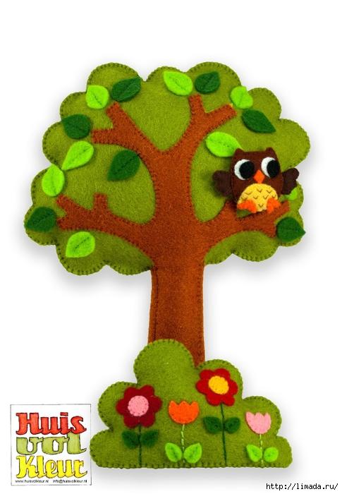 Huisvolkleur vilt boom met bloem (485x700, 196Kb)