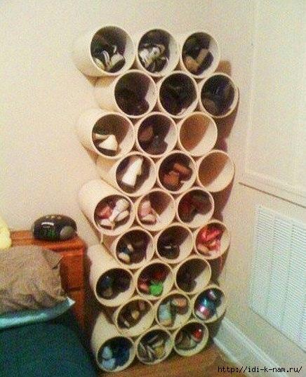 полка для обуви из пластиковой трубы (436x537, 165Kb)