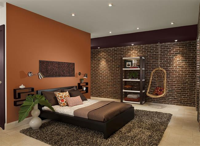 Orange-and-Brown-Bedroom-Custom (650x476, 220Kb)