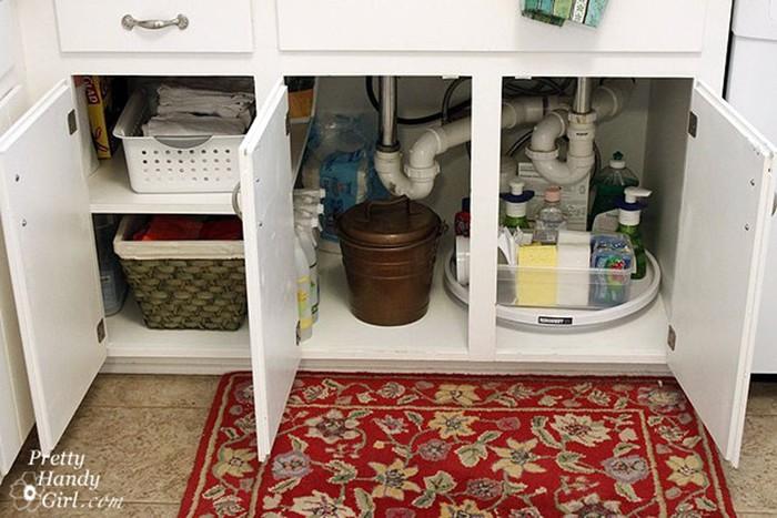 Супер идеи, как устроить место для хранения вещей под мойкой 126809685 121515 2120 mojka7