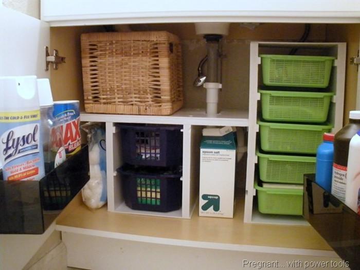 Супер идеи, как устроить место для хранения вещей под мойкой 126809689 121515 2120 mojka11