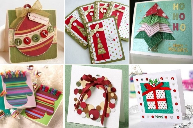 Идеи для новогодней открытки своими руками