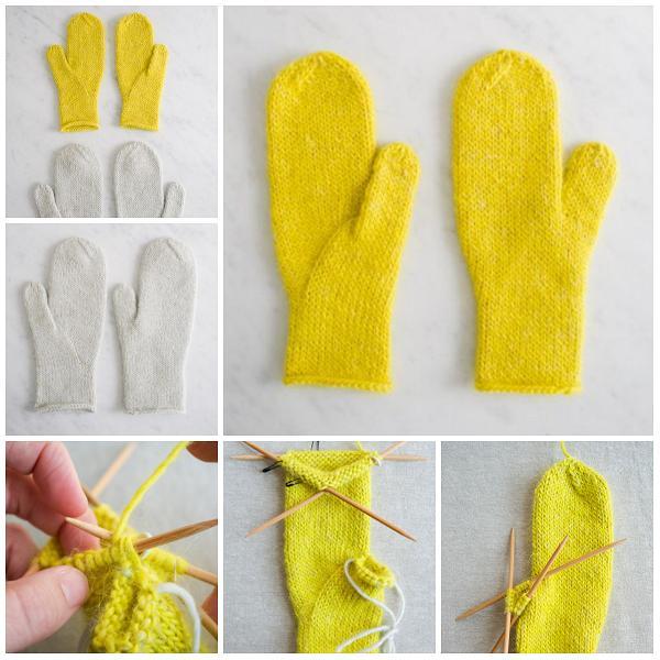 Вязание палец варежки клин