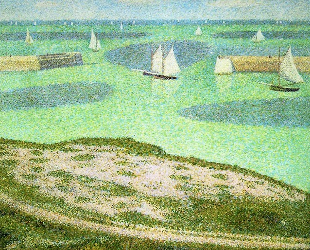 Порт-Бессен  Вход в гавань. 1888 (638x514, 607Kb)