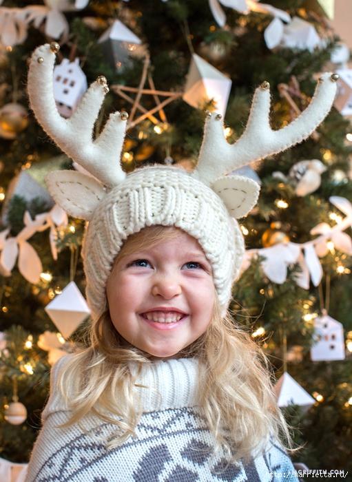 Для новогоднего утренника. Детская шапочка с рогами оленя (2) (511x700, 326Kb)