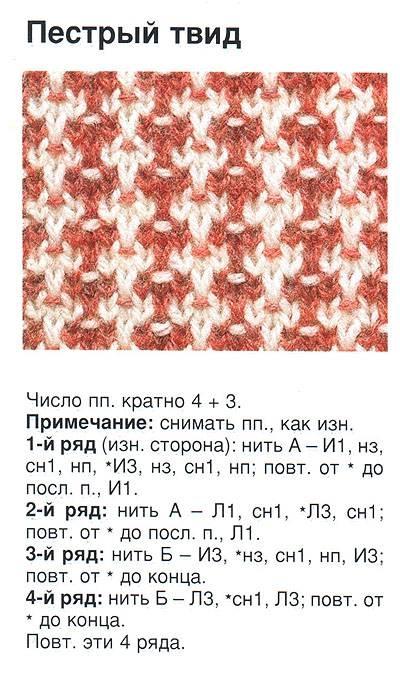 Вязание спицами узоры с двух цветов 40