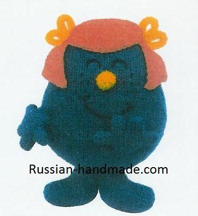 Мультяшные игрушки спицами. Хихикающая девочка (1) (396x433, 142Kb)