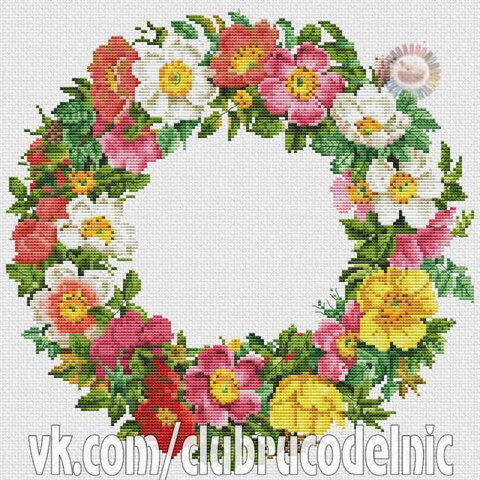 Krans met rozen (700x700, 726Kb)