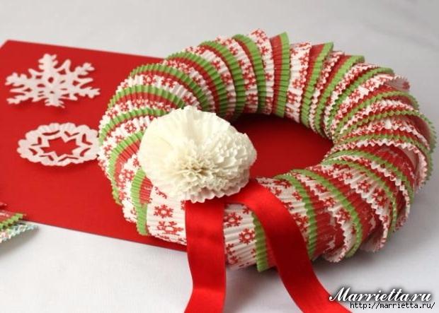 Новогоднее применение бумажных стаканчиков для кексов (25) (620x443, 166Kb)