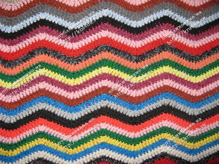 Узоры для вязания крючком разноцветные 573