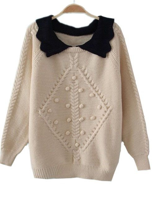 современный пуловер вязание