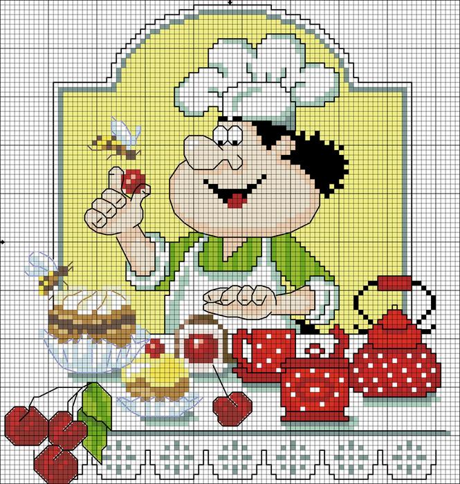 Схемы вышивки крестом для кухни 16