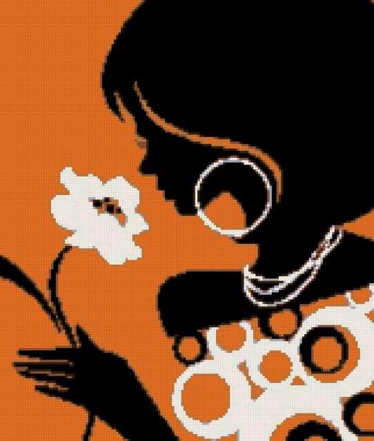 девушка с цветком (542x640, 197Kb)