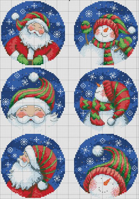 Santa_amp_amp_Snowman_Ornaments (490x700, 425Kb)