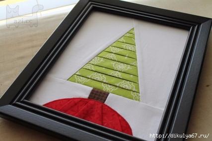 Картина-лоскутная елочка