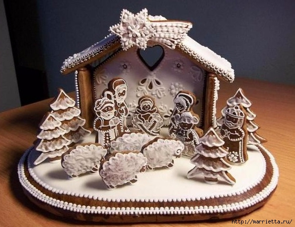Рождественские пряники. Красивые идеи (12) (586x452, 197Kb)