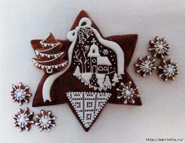 Рождественские пряники. Красивые идеи (43) (599x463, 147Kb)