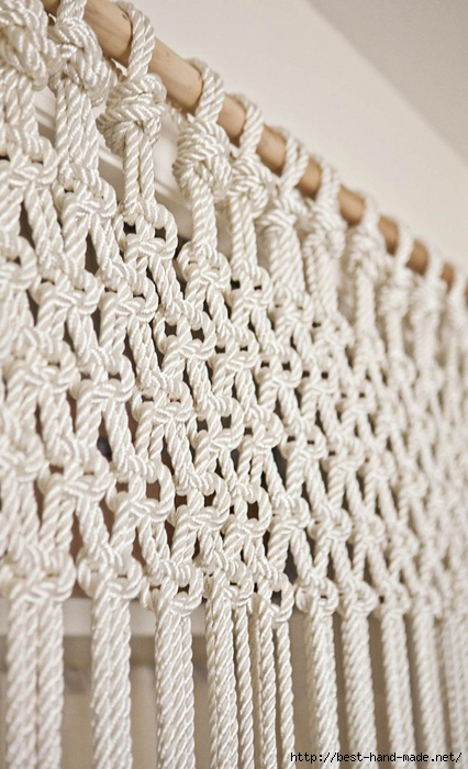 手工绳结编织教程:绳结与流苏 二、窗帘的流苏 - maomao - 我随心动