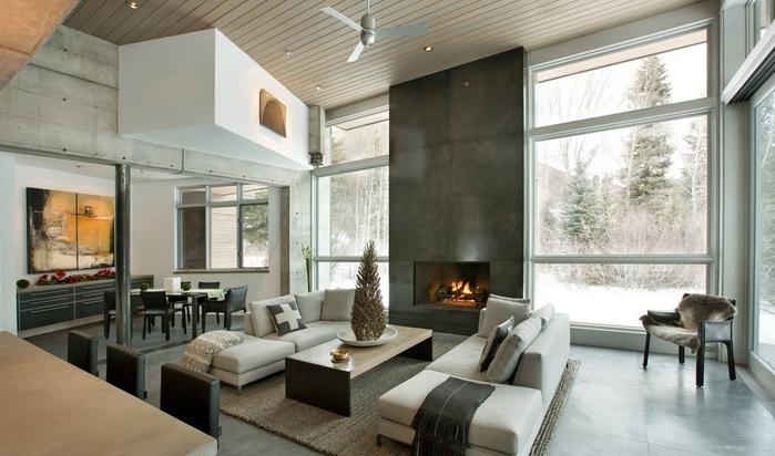 alt= Камины в интерьере современного дома