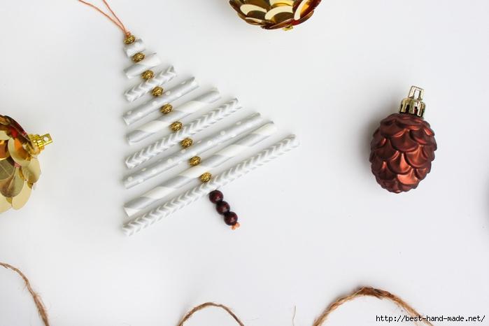 Новогодняя елочка из бумажных трубочек МК 2 (700x466, 141Kb)