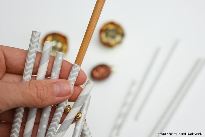 Новогодняя елочка из бумажных трубочек МК 7 (700x466, 129Kb)