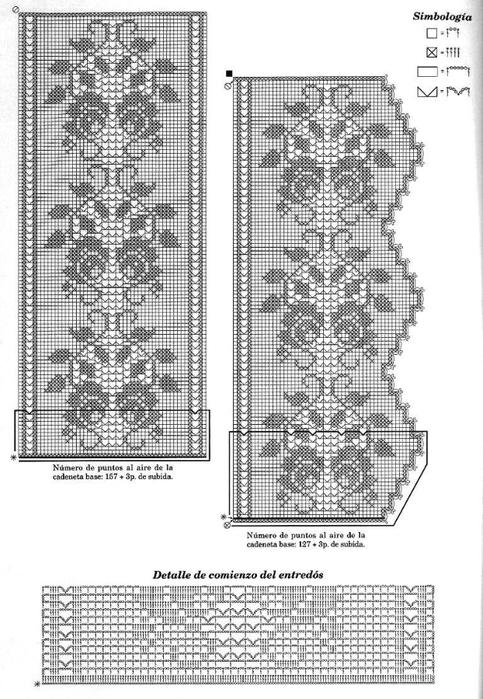 Кайма вязание филейное схемы 42