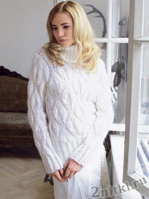 belyj-pulover-s-uzorom-iz-listev_0 (525x700, 245Kb)