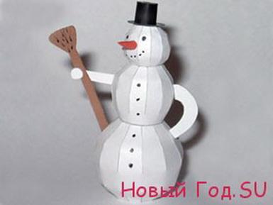 Объемный-снеговик-из-бумаги (385x289, 28Kb)