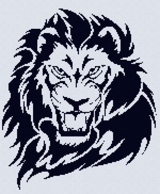 тату лев 2цв (527x640, 255Kb)