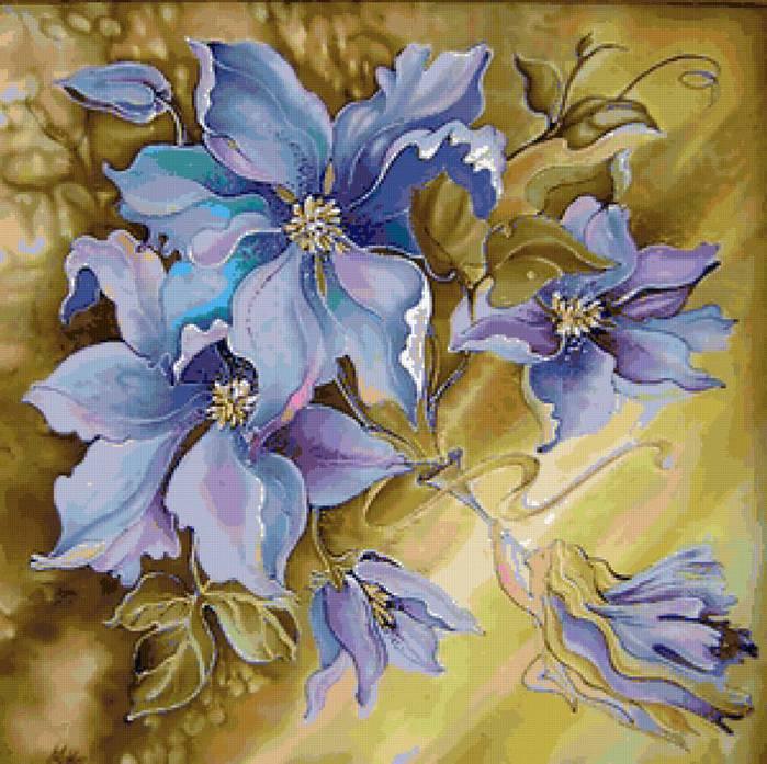 Цветы для росписи по ткани