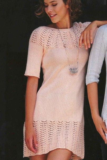 Красивое платье связать спицами