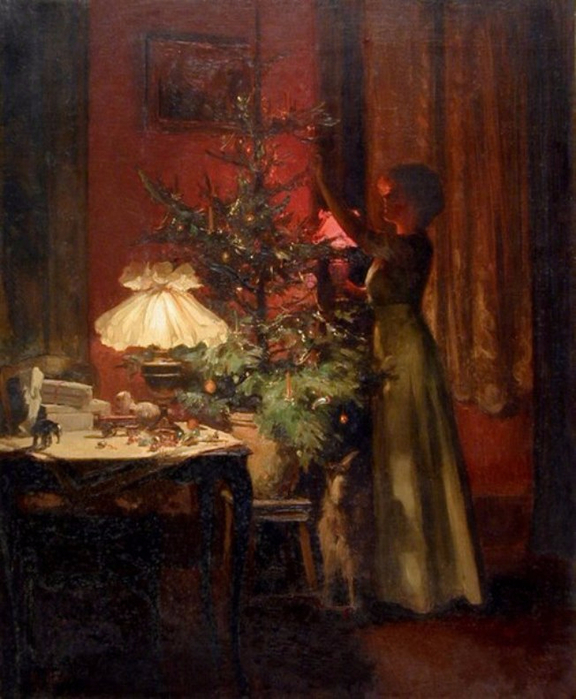 Marcel Rieder (French, 1862-1942). Décoration du sapin de Noël. 1898 �. (576x700, 382Kb)