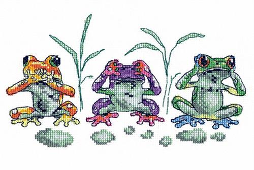 Чудесная игла Д#081 - Лягушки (500x335, 163Kb)