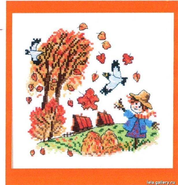 Чудесная игла Д#096- Рыжая Осень (616x640, 298Kb)