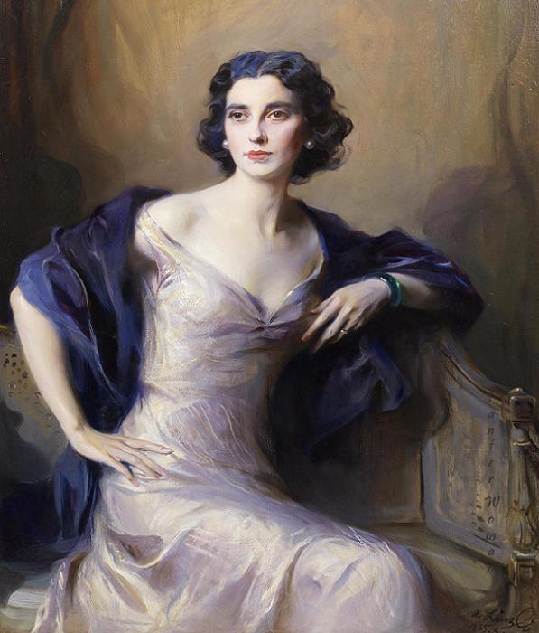 Audrey Winifred Radcliffe Battine, wife of Oswald James Battine (597x700, 806Kb)