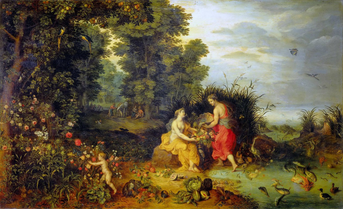 Аллегория Четырёх стихий. Земля и Вода (1650-е) (Флоренция, Уффици) (700x427, 426Kb)