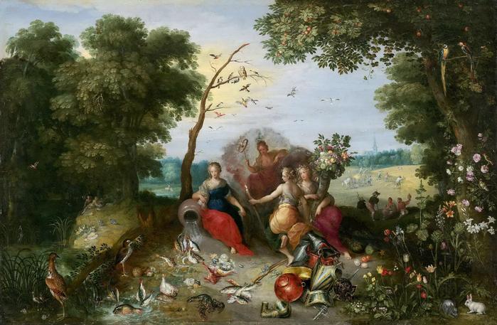 Аллегория четырех элементов (совм. с Франсом Франкеном) (1630-е) (Лос-Анжелес, Музей Гетти) (700x457, 387Kb)