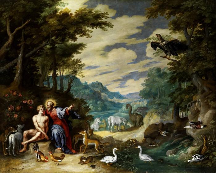 В Эдемском саду (частная коллекця) (700x560, 457Kb)