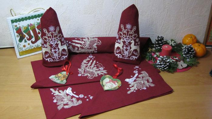 Вышивка салфетки своими руками